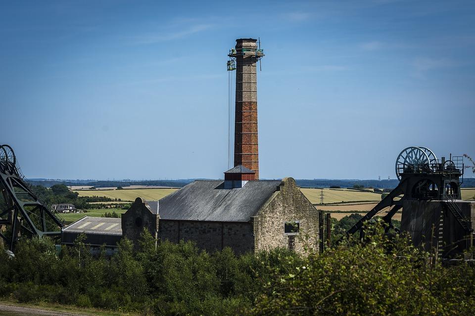 Coal Mine, Landscape, Repair, Blue, Sky