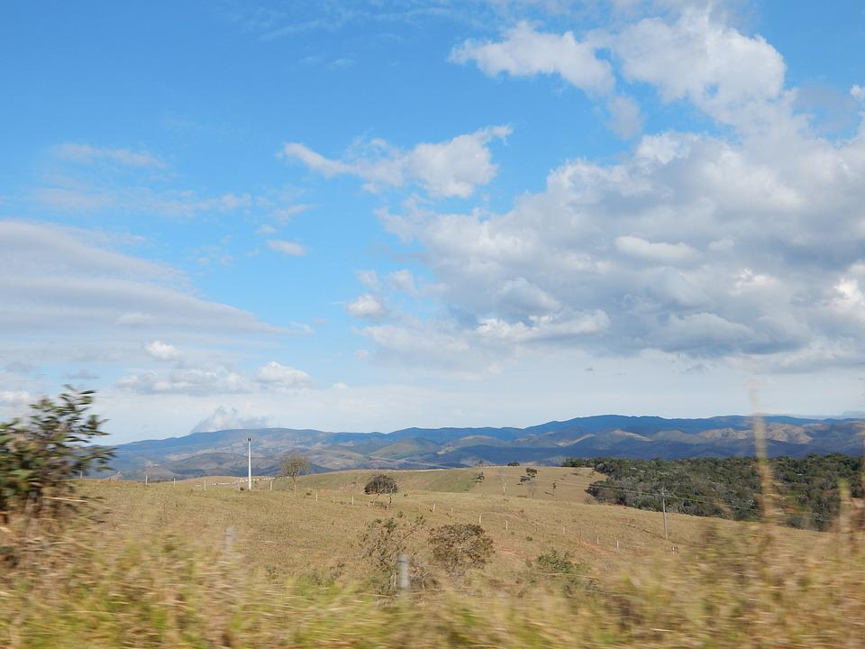 Sky, Field, Nature, Blue Sky, Landscape, Clouds