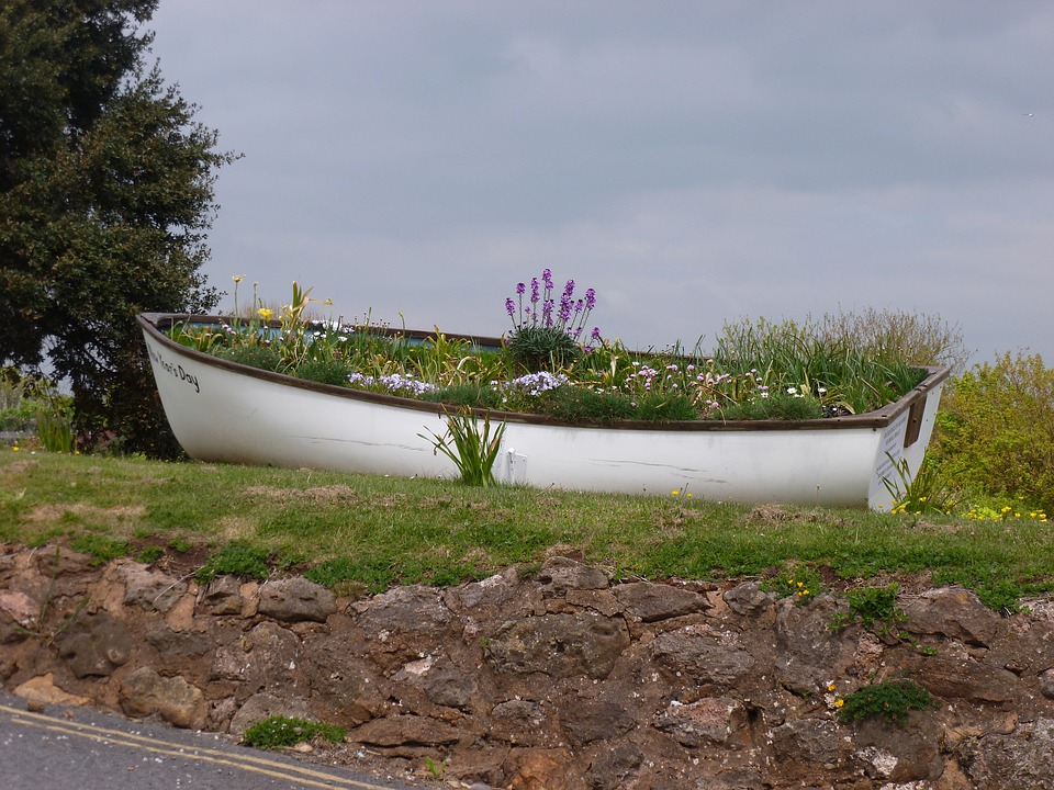 Budleigh Salterton, Beach, Landscape, Holiday, Boat