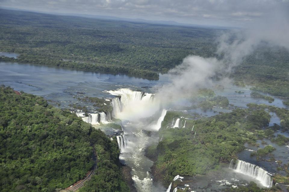 Brasil, Waterfall, Brazil, Jungle, Nature, Landscape