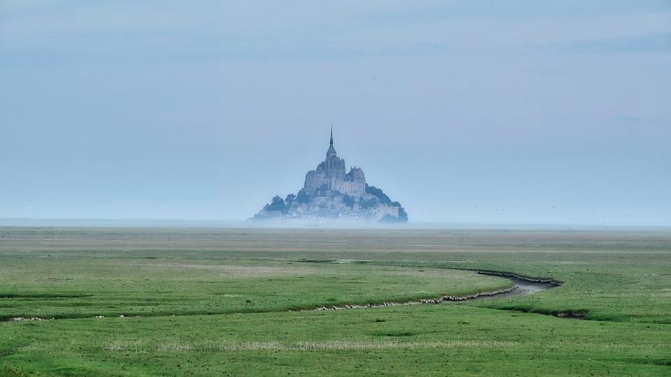 Island, Cathedral, Landscape, Nature, Fog