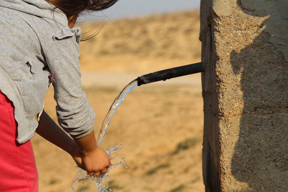 Water And Children, Water, Child, Fountain, Landscape