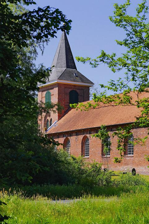 Church, Landscape, Idyllic, Early Summer, Green, Trees