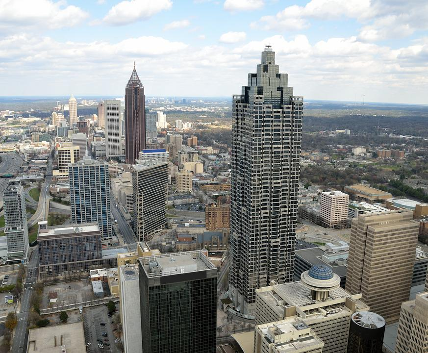 Atlanta, Georgia, City, Landscape, Aerial View