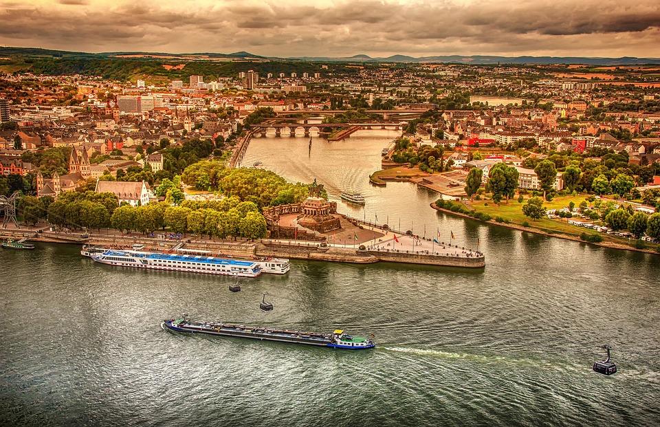 Koblenz, German Corner, Sachsen, Landscape, City, Rhine