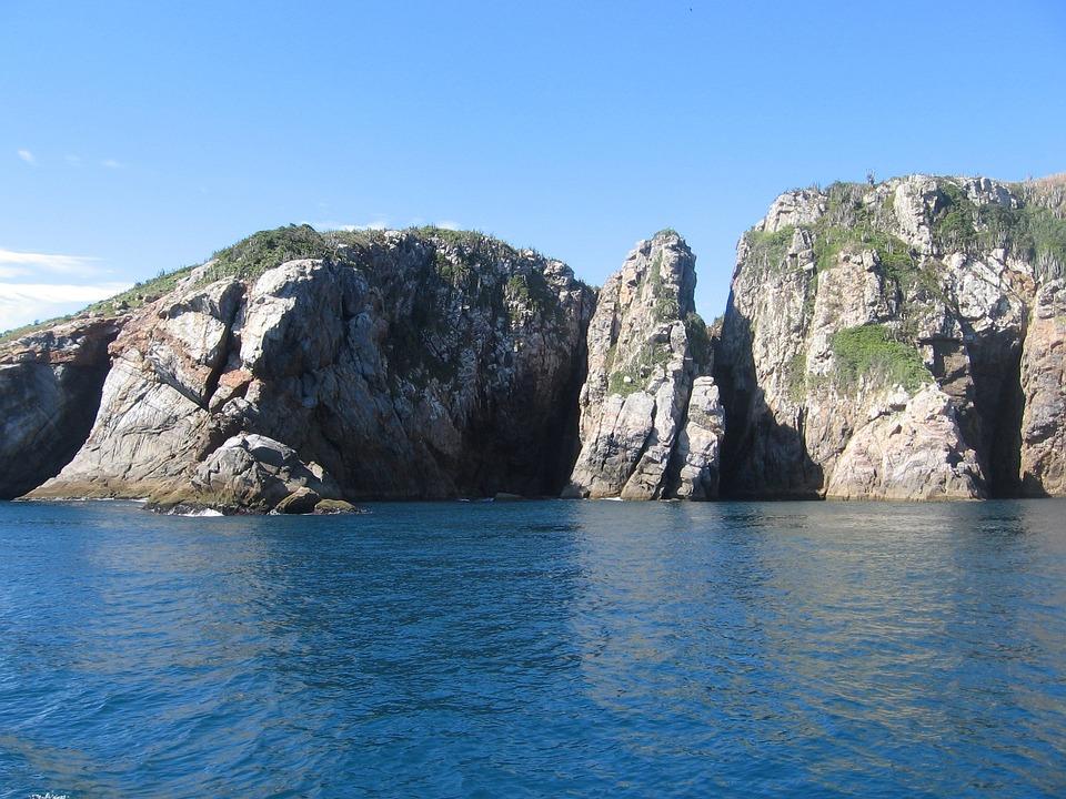 Thailand, Cliff, Sea, Rocks, Coast, Landscape