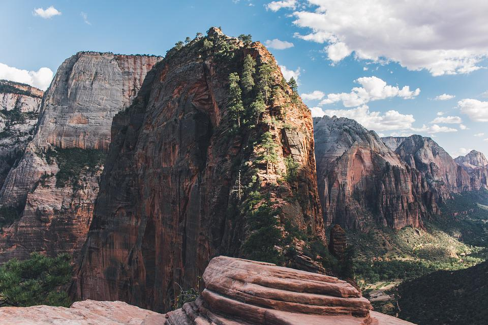Canyon, Zion National Park, Cliff, Geology, Landscape