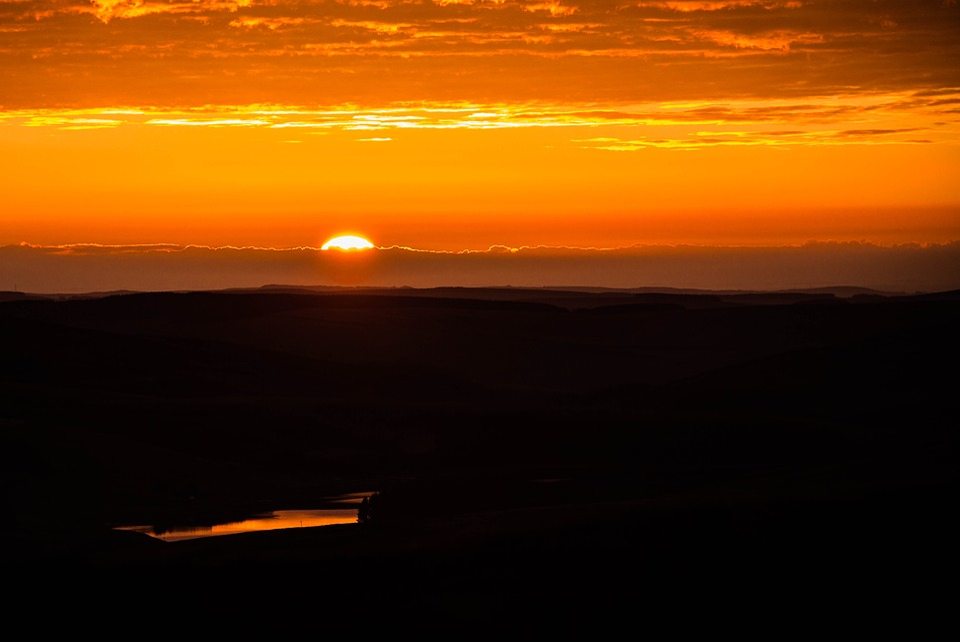 Sunrise, Early, Cloud, Morning, Landscape, Nature