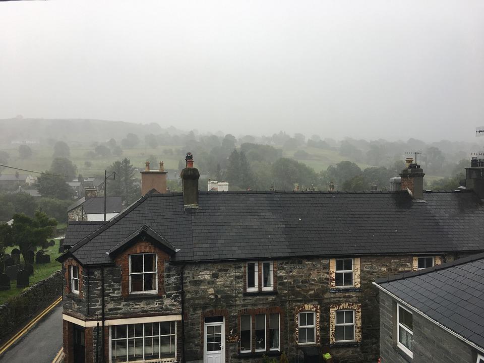 Wales, Fog, Rain, Foggy, Landscape, Sky, Clouds