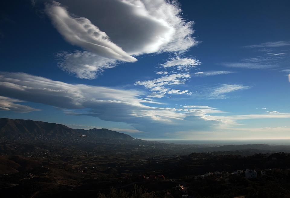 Clouds, Blue Sky, Landscape, Cloudy, Costa Del Sol