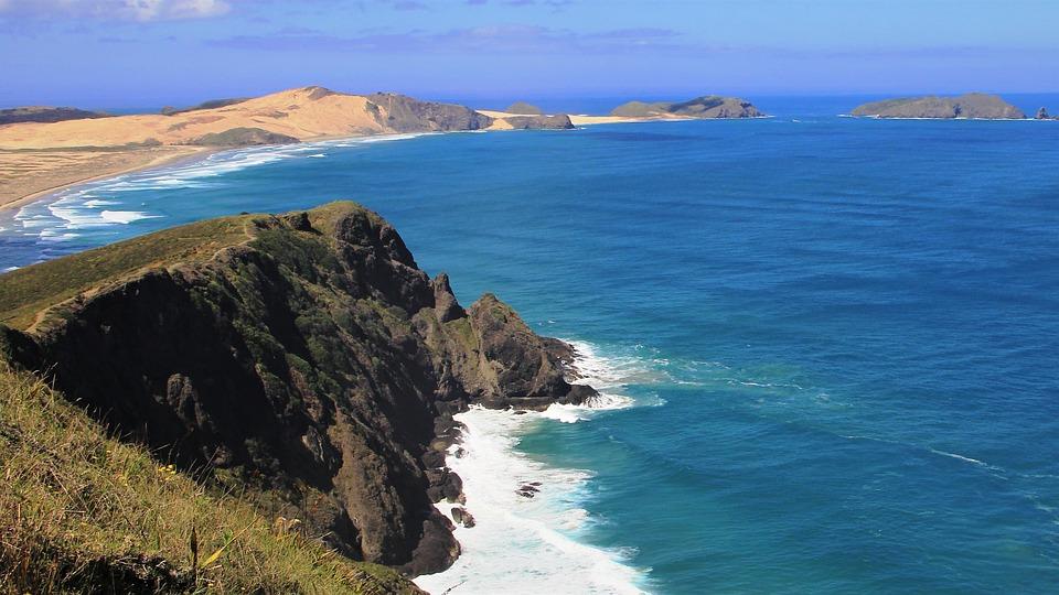 Beautiful, Landscape, Cape Reinga, New Zealand, Coast