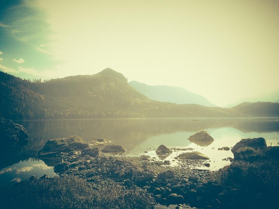 Coast, Lake, Nature, Landscape, Water, Reflection
