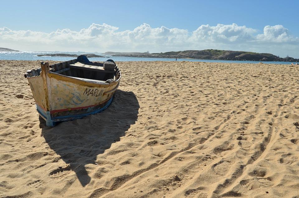 Beach, Boat, Mar, Landscape, Sand, Cockboat, Browse