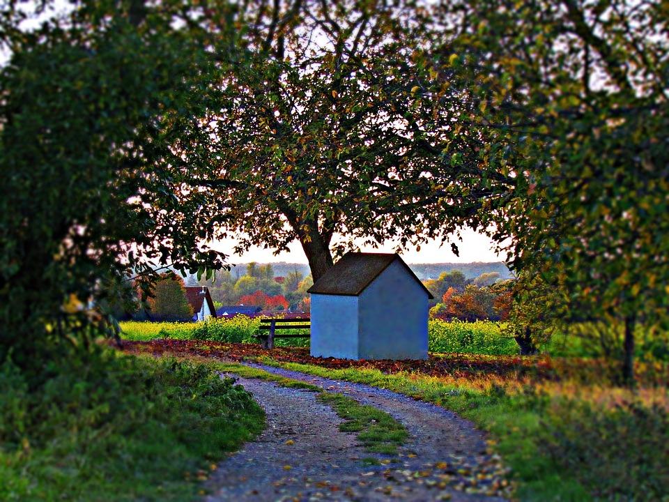Cottage, Chapel, The Path, Landscape