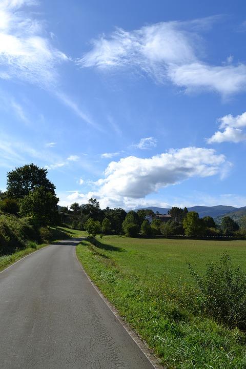 Countryside, Blue Sky, Clouds, Landscape, Pastoral
