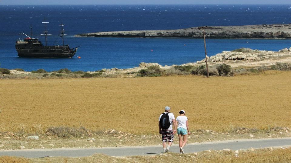 Cyprus, Cavo Greko, Landscape, Hikers, Walking, Scenic