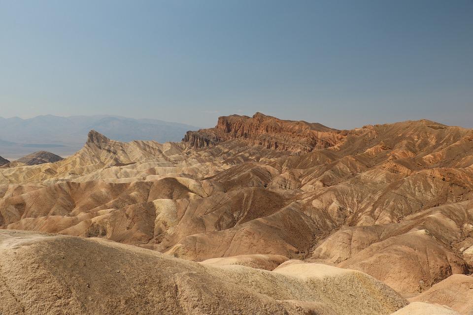 Zabriskie Point, Death Valley, Park, Landscape, Vista