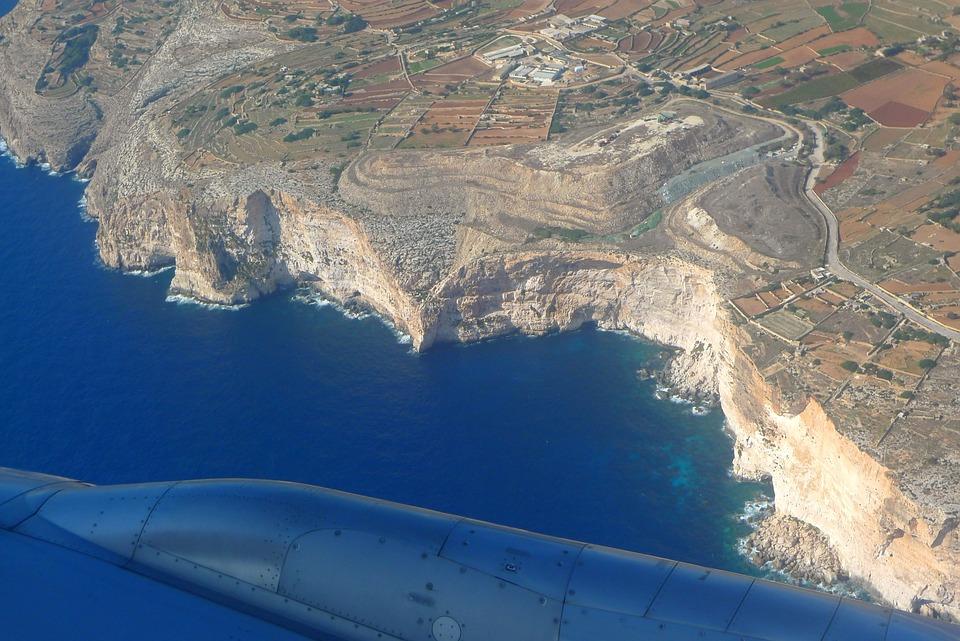 Aerial View, Cliffs, Dingli Cliffs, Landscape, Malta