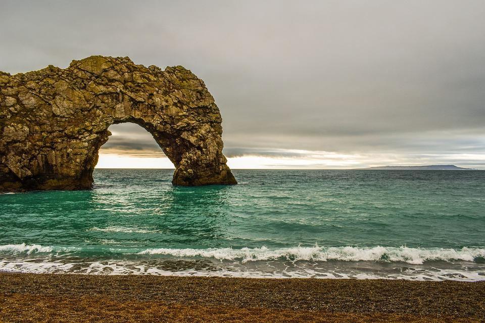 Durdle Door, Beach, Dorset, Ocean, Coast, Landscape
