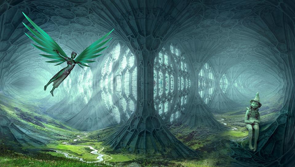 Fantasy, Elves, Dream World, Landscape, Cathedral