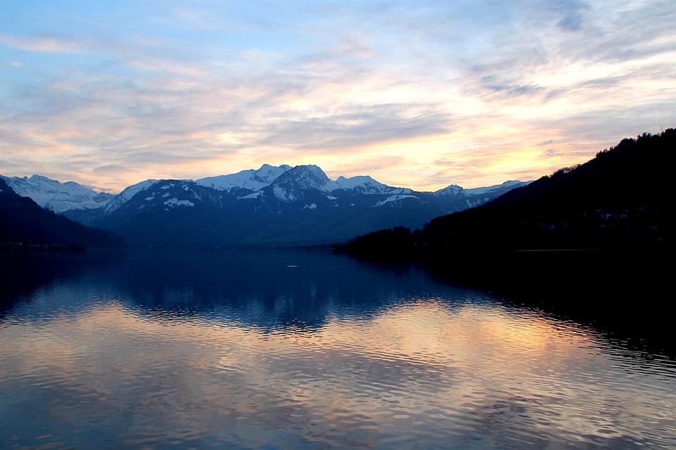 Lake, Landscape, Clouds, Sky, Cloud, Evening