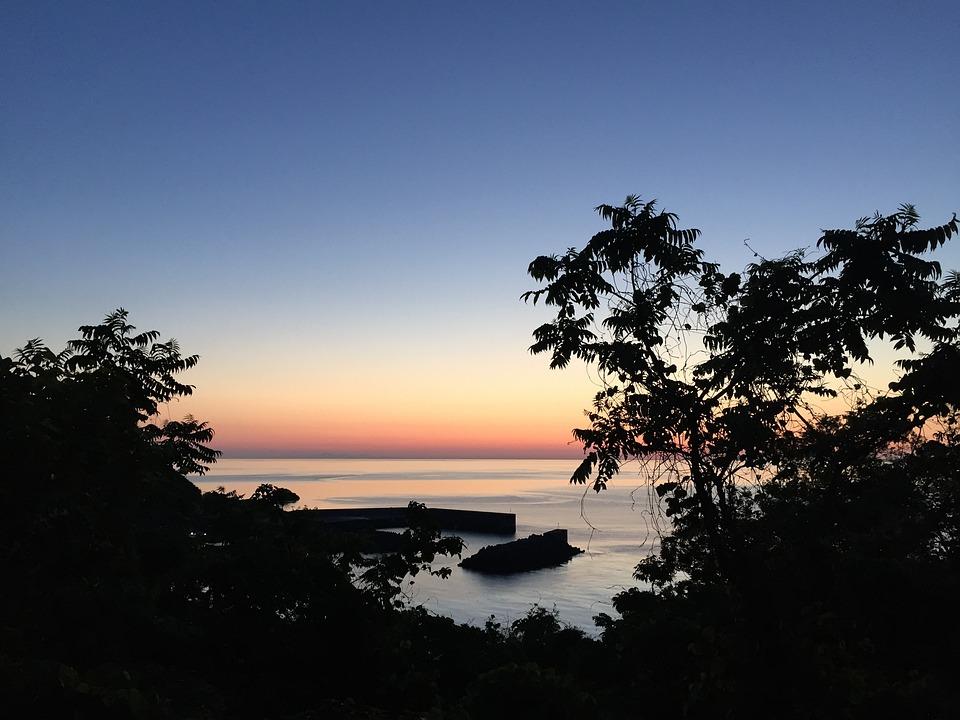 Sea, Landscape, Evening