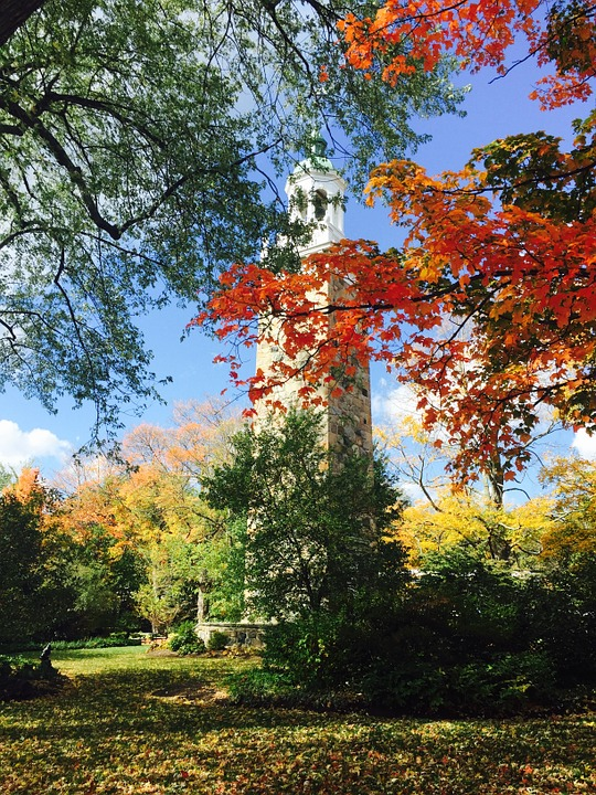 Autumn, Landscape, Fall, Outdoor, Clock Tower