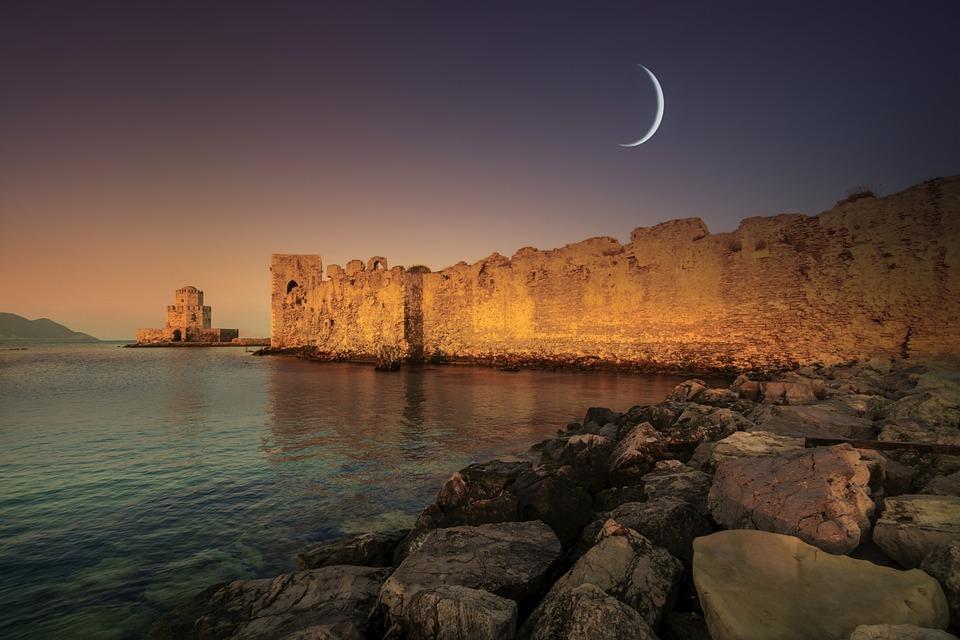 Sea, Rocks, Castle, Fantasy, Fine Art, Sky, Landscape
