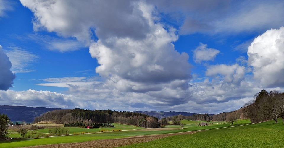 Switzerland, Nature, Landscape, Valley, Farm, Reported