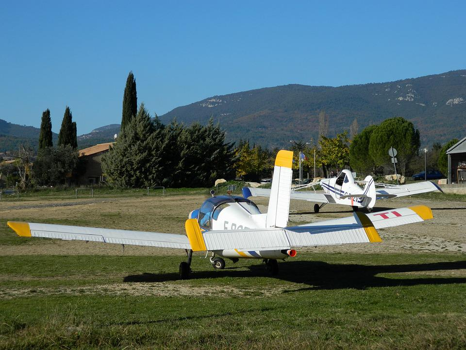 Aerodrome, Fayence, Var, France, Aircraft, Landscape