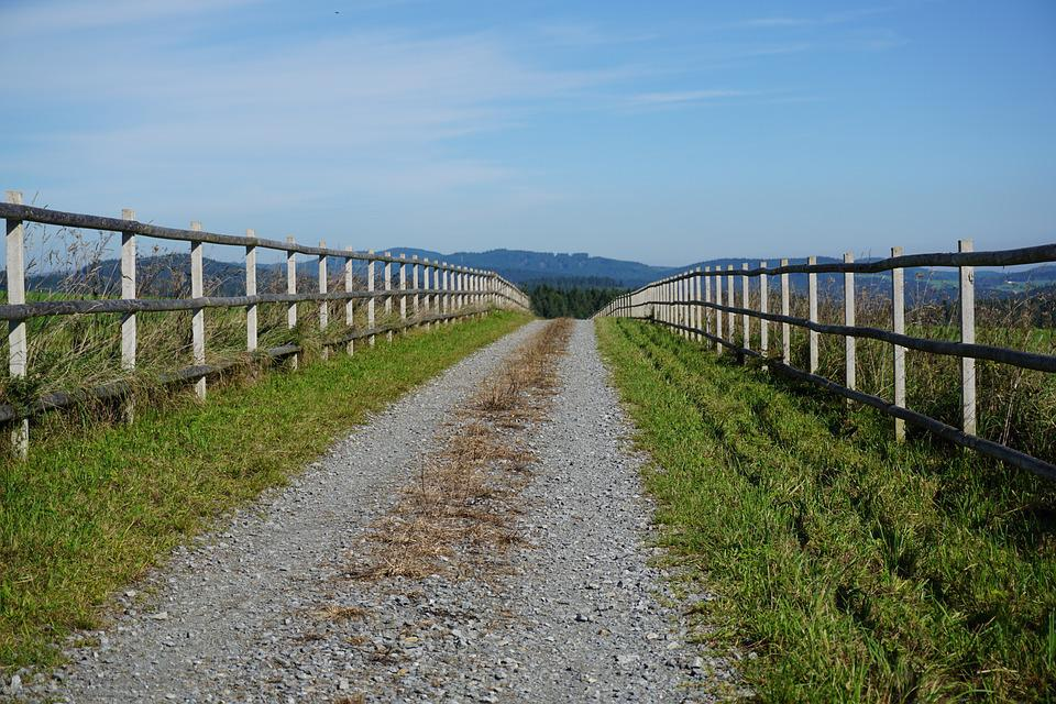 Away, Nature, Landscape, Fence