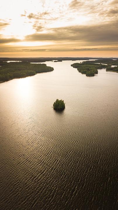 Theft, Finnish, Saimaa, Pike Water, Lake, Landscape