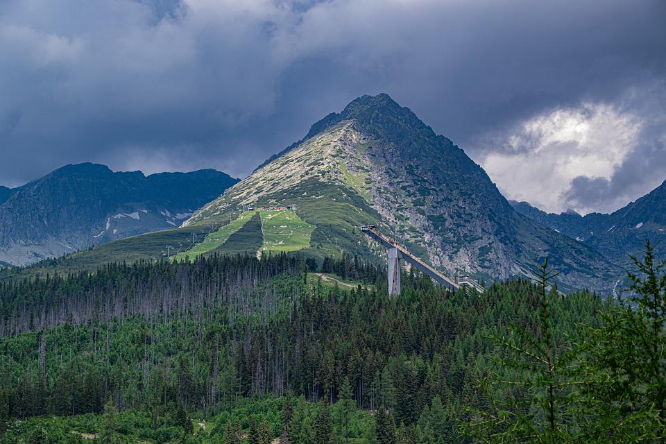 Mountains, Clouds, Nature, Landscape, Sky, Forest
