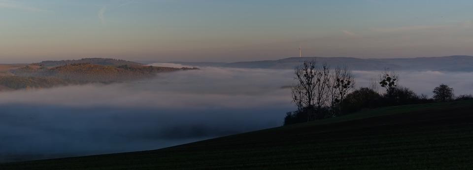 Landscape, Fog, Nature, Forest, Trees, Haze, Autumn