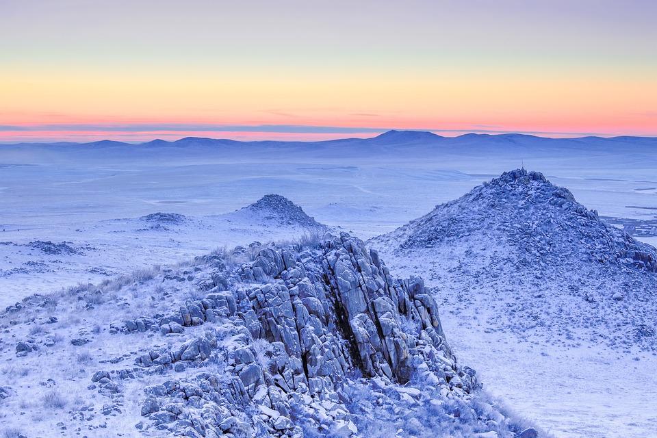 Freezing, Landscape, Frozen, Cold, Sunrise, Rough