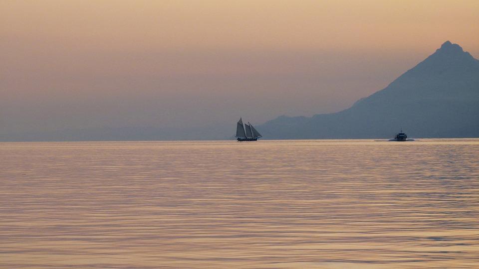 Garda, Sunset, Ship, Sailing Vessel, Nature, Landscape