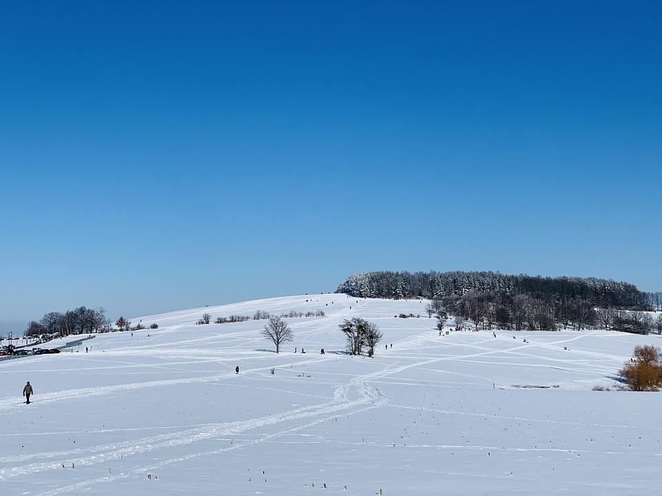 Winter, Snow, Germany, Dresden, Landscape