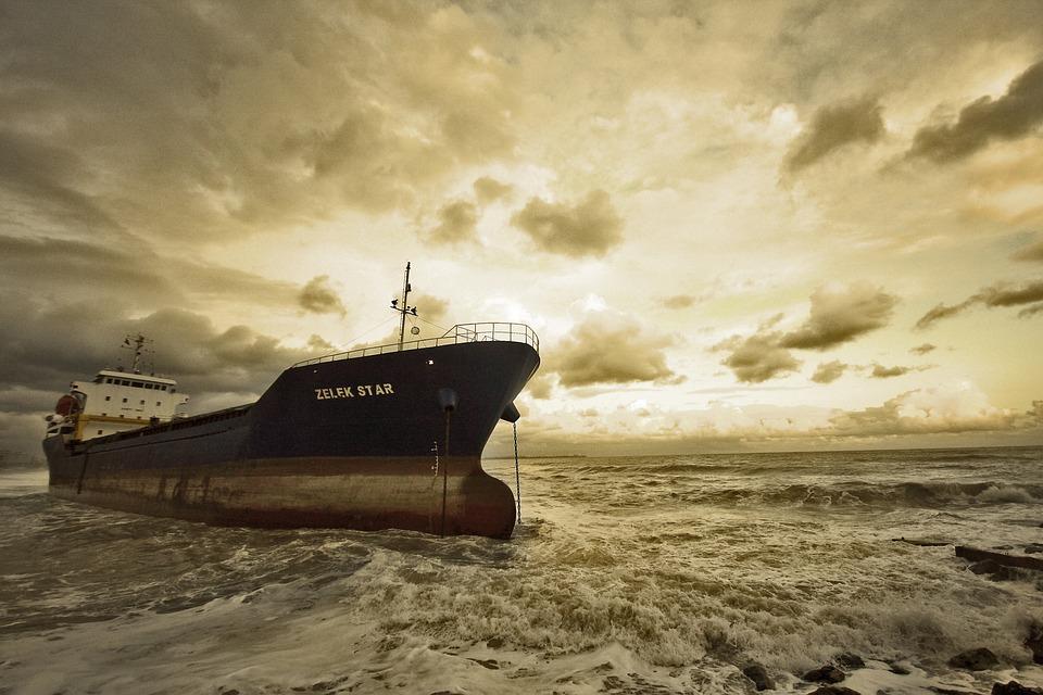 Ship, Accident, Girl, Black, Sink, Landscape, Turkey