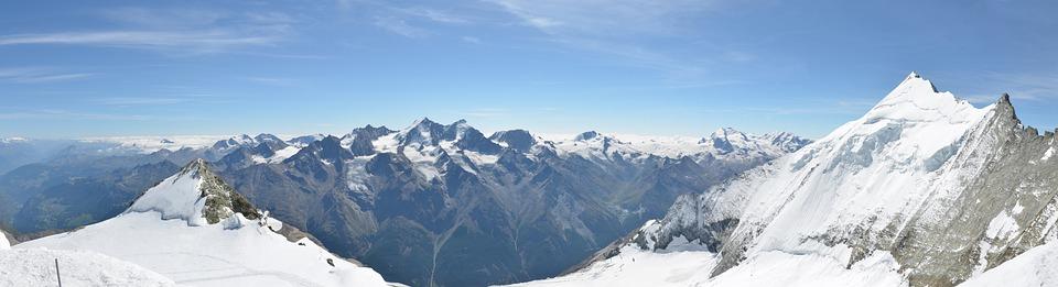 Mountains, Glacier, Mountain Peak, Landscape