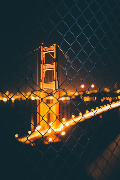 Landscape, Evening, Travel, Golden Gate, Bridge