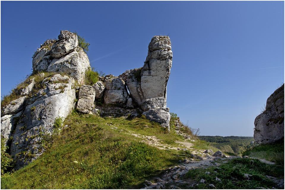 Rock, Landscape, Grass, Upland
