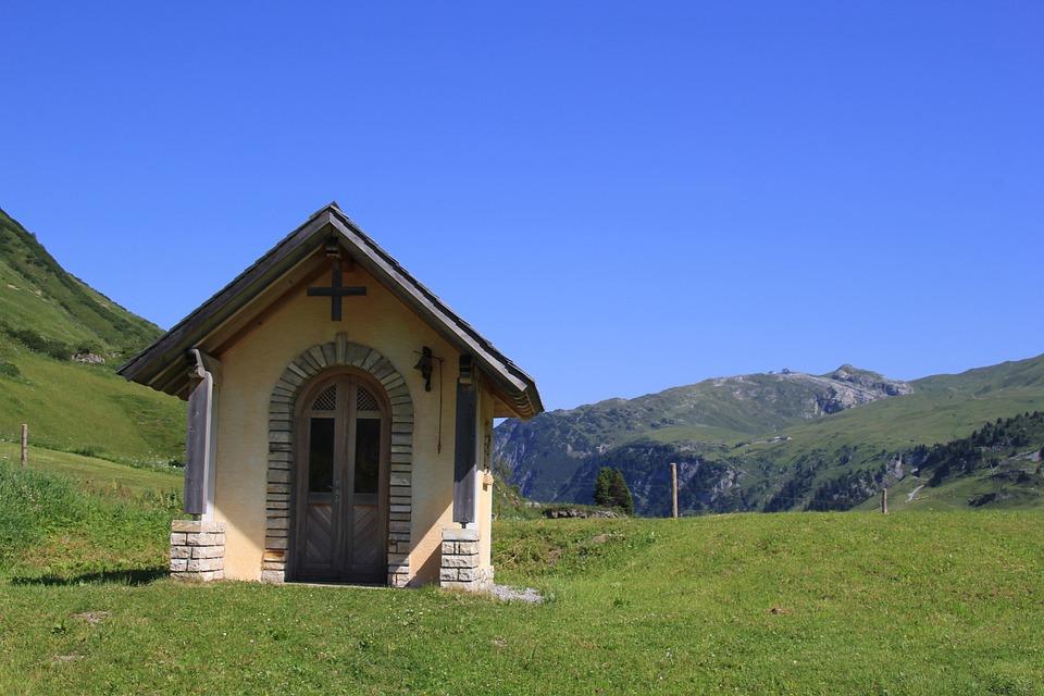 Grass, Wood, Sky, Summer, Landscape, House, Rural