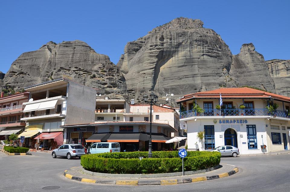 Meteora, Greece, Cliff, Orthodox, Landscape, Rock