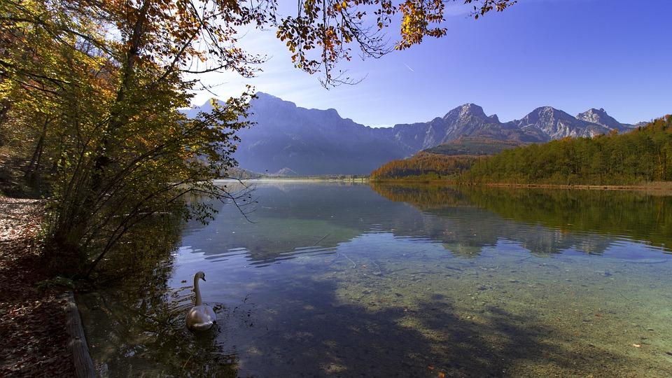 Almsee, Grünau, Upper Austria, Mood, Hiking, Landscape