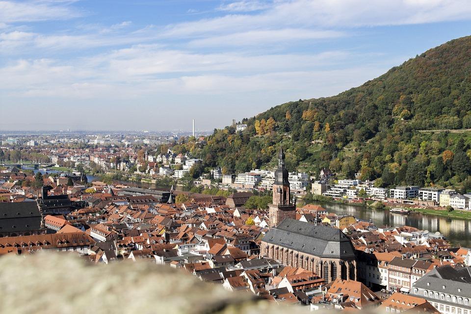 Autumn, Heidelberg, Castle, View, Neckar, Landscape