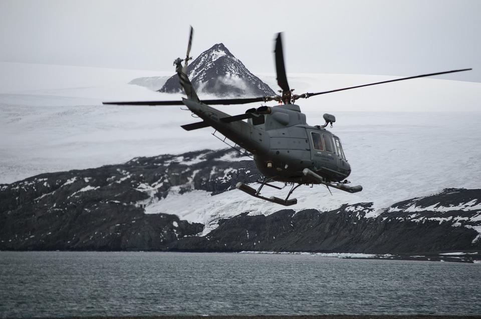 Helicopter, Transport, Travel, Antarctica, Landscape