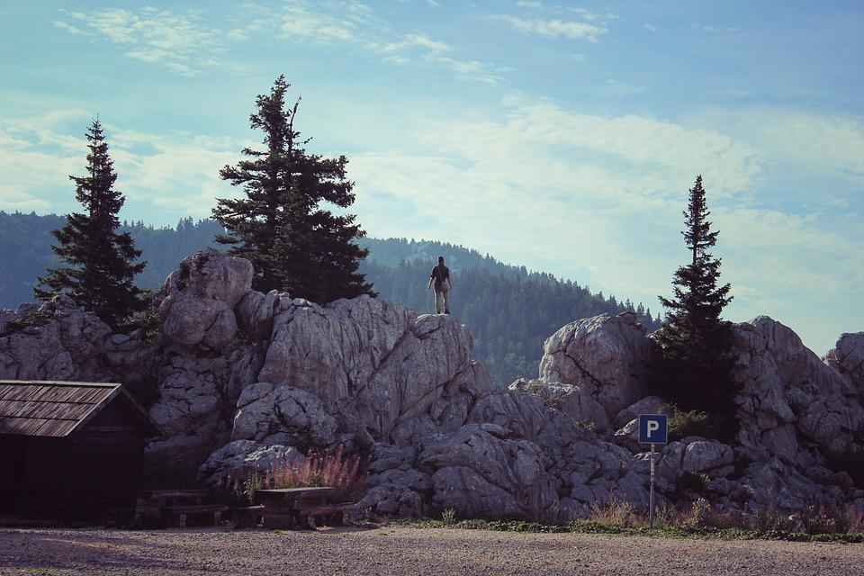 Mountains, Hiking, Glory, Adventure, Person, Landscape