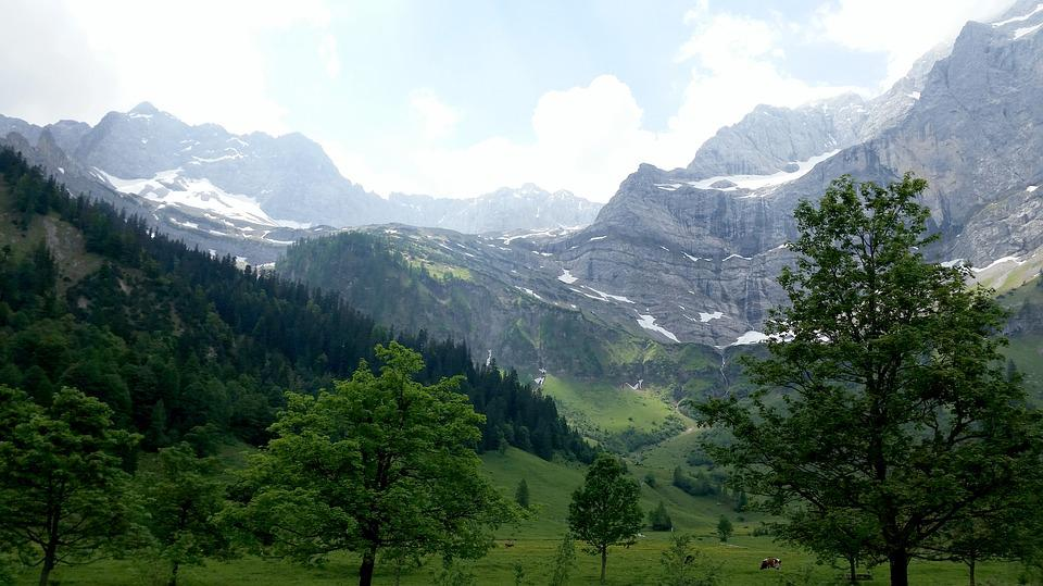 Mountains, Hiking, View, Karwendel, Landscape