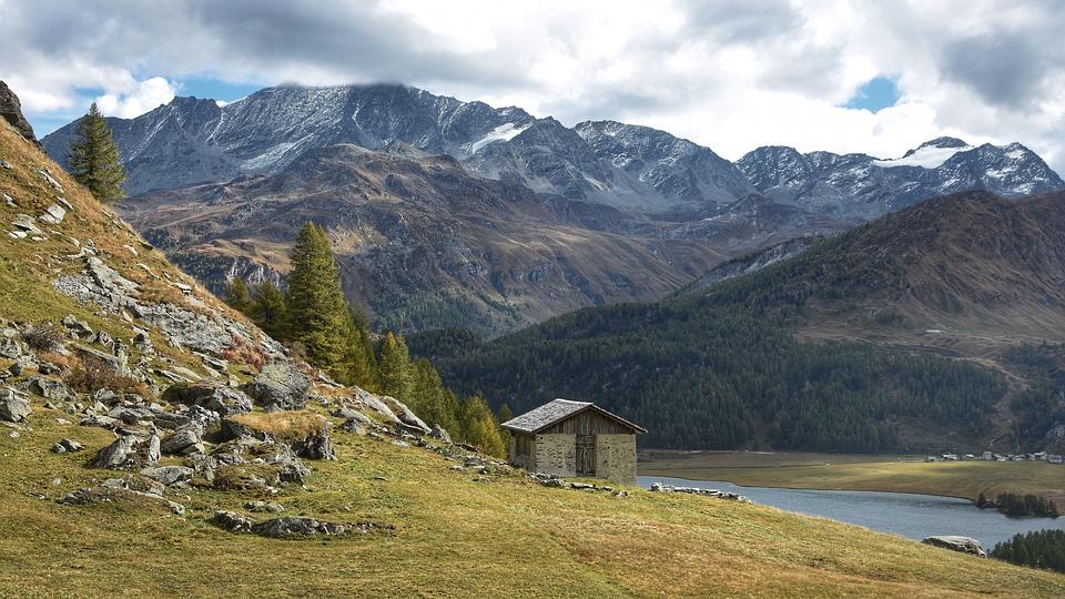 Mountain Hut, Mountains, Alpine, Landscape, Hiking, Alm