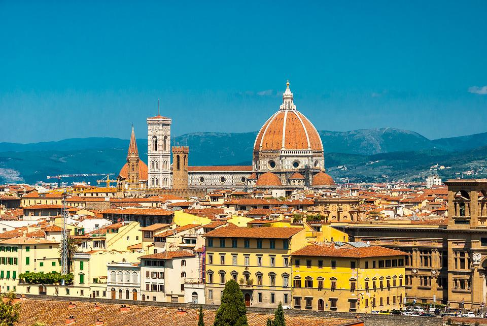 free photo landscape holidays florence clouds the sun sky max pixel